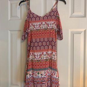Pink, Multicolor, Off the Shoulder Dress